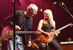 """Paul Reed Smith & Orianthi {who appears in Michael Jackson's """"This is It"""" } performs live at The Paul Reed Smith's 20th Anniversary Concert held at The Grove of  Anaheim,in Anaheim,California on January 21,2005. Copyright 2005 by DVS / RockinExposures"""