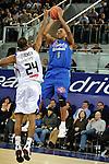 MADRID, Spain (22/01/11). Liga ACB de baloncesto, jornada 18, Real Madrid vs Asefa Estudiantes. Caja Magica...Ellis Tyrone...©Raul Perez .