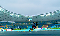 1st May 2021; Silesian Stadium, Chorzow, Poland; World Athletics Relays 2021. Day 1; Ami Pipi of GB out of the blocks in the ladies 4 x 400