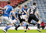 St Mirren v St Johnstone…09.05.21  Scottish Cup Semi-Final Hampden Park <br />Callum Booth takes a shot<br />Picture by Graeme Hart.<br />Copyright Perthshire Picture Agency<br />Tel: 01738 623350  Mobile: 07990 594431