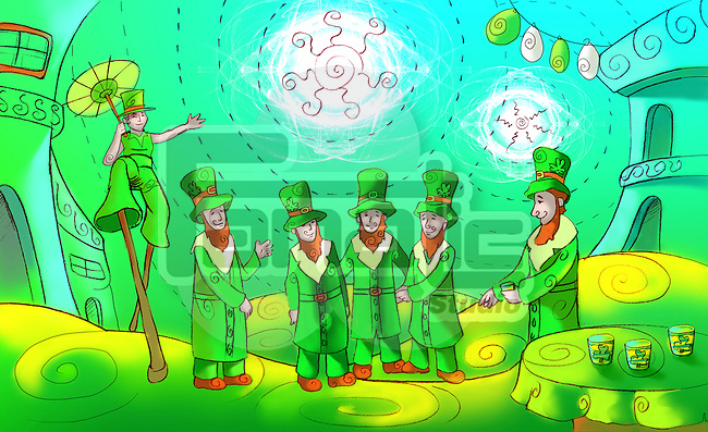 Saint Patrick's Day celebration in Republic of Ireland