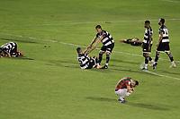 São Paulo (SP), 14/09/2020 - Portuguesa - XV de Piracicaba - Jogadores do Xv de Piracicaba comemoram vitoria. Partida entre Portuguesa e XV de Piracicaba válida pela semifinais do Paulistão A2, no Estádio do Canindé, em São Paulo, capital, nesta segunda-feira (14).