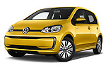 Stock pictures of low aggressive front three quarter view of 2017 Volkswagen E-Up - 5 Door Hatchback Low Aggressive