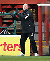 CALEY MANAGER TERRY BUTCHER..14/01/2012 sct_jsp020_motherwell_v_ict     .Copyright  Pic : James Stewart.James Stewart Photography 19 Carronlea Drive, Falkirk. FK2 8DN      Vat Reg No. 607 6932 25.Telephone      : +44 (0)1324 570291 .Mobile              : +44 (0)7721 416997.E-mail  :  jim@jspa.co.uk.If you require further information then contact Jim Stewart on any of the numbers above.........
