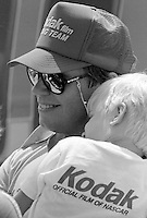 Rick Wilson with son Pepsi Firecracker 400 Daytona International Speedway Daytona Beach FL July 1987 (Photo by Brian Cleary/www.bcpix.com)