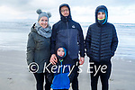 The Clifford family enjoying a stroll in Banna beach on Sunday, l to r: Linda, Aidan, Sean and Mike Clifford.