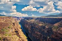 Rio Grande River and gorge near Taos, New Mexico.