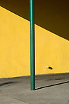 Green Pole with Yellow Wall, Burbank, 2014