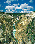 Yellowstone Falls in Yellowstone National Park, Montana, John offers private photo tours in Glacier National Park and throughout Montana and Colorado. Year-round.
