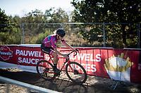 Ellen Van Loy (BEL/Vondelmolen - De Ceuster)<br /> <br /> Elite Women's Race<br /> 2021 UCI cyclo-cross World Cup - Zonhoven (BEL)<br /> <br /> ©kramon