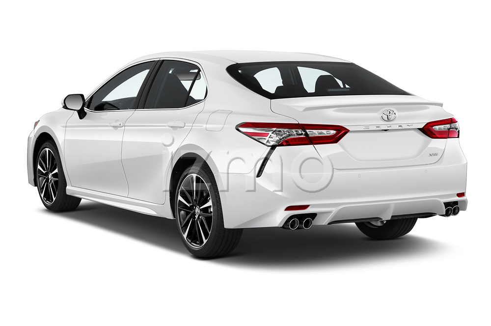 Car pictures of rear three quarter view of 2018 Toyota Camry XSE 4 Door Sedan Angular Rear