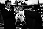 American civil rights activist and Baptist minister Jessie Jackson and Jerry Falwell Christian evangelical fundamentalist Baptist pastor televangelist and conservative commentator,