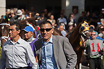 Anthony Sciametta in the walking ring. Scenes from Florida Sunshine Millions day at Gulfstream Park, Hallandale Beach Florida. 01-18-2014