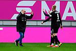 Fussball - 3.Bundesliga - Saison 2020/21<br /> Kaiserslautern -  Fritz-Walter-Stadion 07.04.2021<br /> 1. FC Kaiserslautern (fck)  - FSV Zwickau (zwi) 2:2<br /> Trainer Joseph ENOCHS (FSV Zwickau), li , mit Marius HAUPTMANN (FSV Zwickau) und Lars LOKOTSCH (FSV Zwickau)<br /> <br /> Foto © PIX-Sportfotos *** Foto ist honorarpflichtig! *** Auf Anfrage in hoeherer Qualitaet/Aufloesung. Belegexemplar erbeten. Veroeffentlichung ausschliesslich fuer journalistisch-publizistische Zwecke. For editorial use only. DFL regulations prohibit any use of photographs as image sequences and/or quasi-video.