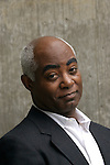 African American man in business suit without tie with a questioning look