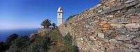 Europe/France/Corse/2B/Haute-Corse/Cap Corse/Canari: Le clocher de Canari qui signale Canari aux navigateurs