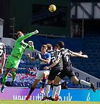 Rangers v St Mirren:  St Mirren keeper Jak Alnwick clears from Cedric itten