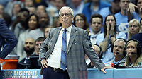 CHAPEL HILL, NC - FEBRUARY 1: Head coach Roy Williams of the University of North Carolina during a game between Boston College and North Carolina at Dean E. Smith Center on February 1, 2020 in Chapel Hill, North Carolina.