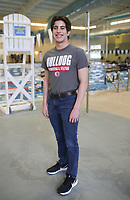 Springdale's Kevin Brumfield stands for a portrait, Thursday, April 15, 2021 at the Bentonville Community Center in Bentonville. Check out nwaonline.com/210415Daily/ for today's photo gallery. <br /> (NWA Democrat-Gazette/Charlie Kaijo)