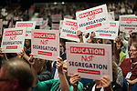 © Joel Goodman - 07973 332324 . 27/09/2016 . Liverpool , UK . The audience applauds Angela Rayner's Education speech . The third day of the Labour Party Conference at the ACC Liverpool . Photo credit : Joel Goodman