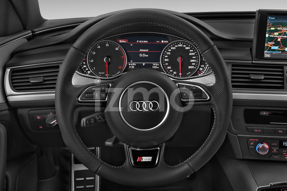 Car pictures of steering wheel view of a 2018 Audi A6 Avant S Line Select Doors Door Wagon