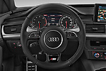 Car pictures of steering wheel view of a 2018 Audi A6 Avant S Line Select Doors Door Wagon