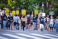 Washington, DC - June 15, 2020: Protesters march through the streets of Washington, DC June 15, 2020 to call for police justice and reform in the wake of the police killing of George Floyd in Minnesota.  (Photo by Don Baxter/Media Images International)