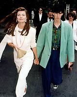 Paulina PorizKova & Rick Ocasek 1992<br /> Photo By John Barrett-PHOTOlink.net / MediaPunch