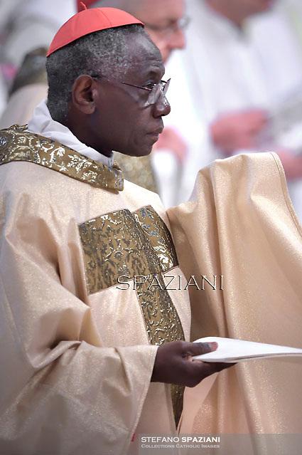 cardinal; Robert Sarah;Pope Francis Chrismal mass in the morning of Holy Thursday at St Peter's basilica.April 2,2015