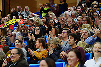 Fans in the stands during the ANZ Premiership netball match between Central Pulse and Mainland Tactix at Te Rauparaha Arena in Wellington, New Zealand on Friday, 9 July 2021. Photo: Dave Lintott / lintottphoto.co.nz