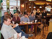 Januari 08, 2015, Rotterdam, ABNAMRO, Coolsingel, ABNAMROWTT Pressconference, written press<br /> Photo: Tennisimages/Henk Koster