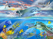 Lori, REALISTIC ANIMALS, REALISTISCHE TIERE, ANIMALES REALISTICOS, paintings+++++Dolphin Dance_1_72,USLS13,#A#, EVERYDAY ,puzzles ,puzzles