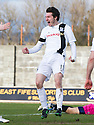 Ayr Utd's Michael Donald celebrates after he scores their fourth goal.