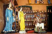 Recife, Brazil. Candomble; effigies of the 'Preto Velho', Iemanja and Oxum; Pernambuco State.