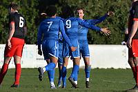 Dwade James of Walthamstow scores the third Goal and celebratesduring Walthamstow vs Sawbridgeworth Town, Essex Senior League Football at Wadham Lodge Sports Ground on 8th February 2020