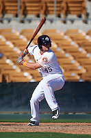 Glendale Desert Dogs third baseman J.D. Davis (45) at bat during an Arizona Fall League game against the Mesa Solar Sox on October 13, 2015 at Camelback Ranch in Glendale, Arizona.  Glendale defeated Mesa 8-7.  (Mike Janes/Four Seam Images)