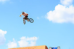 BMX riders get some practice in before the summer X-Games at the Circuit of the Americas race track in Austin, Texas.