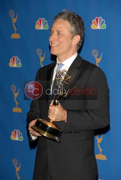 Jon Stewart<br />in the Press Room at the 58th Annual Primetime Emmy Awards. The Shrine Auditorium, Los Angeles, CA. 08-27-06<br />Scott Kirkland/DailyCeleb.com 818-249-4998