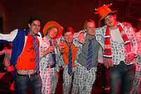 10-02-12, Netherlands,Tennis, Den Bosch, Daviscup Netherlands-Finland, Oranjefans