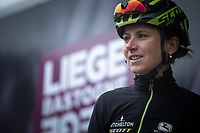 Eventual race winner Annemiek Van Vleuten (NED/Mitchelton-Scott) at the pre race team presentation. <br /> <br /> 3th Liège-Bastogne-Liège-Femmes 2019 (1.WWT)<br /> 1 Day Race: Bastogne – Liège 138,5km<br /> <br /> ©kramon