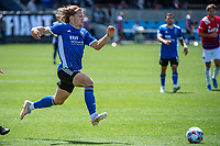 SAN JOSE, CA - APRIL 24: Florian Jungwirth #23 of the San Jose Earthquakes dribbles the ball during a game between FC Dallas and San Jose Earthquakes at PayPal Park on April 24, 2021 in San Jose, California.