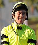 October 17, 2009. Michael Baze riding A Cat Named Snipe wins the 7th at Oak Tree at Santa Anita Park,  Arcadia, CA