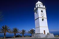 Europe/France/Corse/2B/Haute-Corse/Cap Corse/Canari: Le clocher de Canari isolé sur la place du village, il signale Canari aux navigateurs