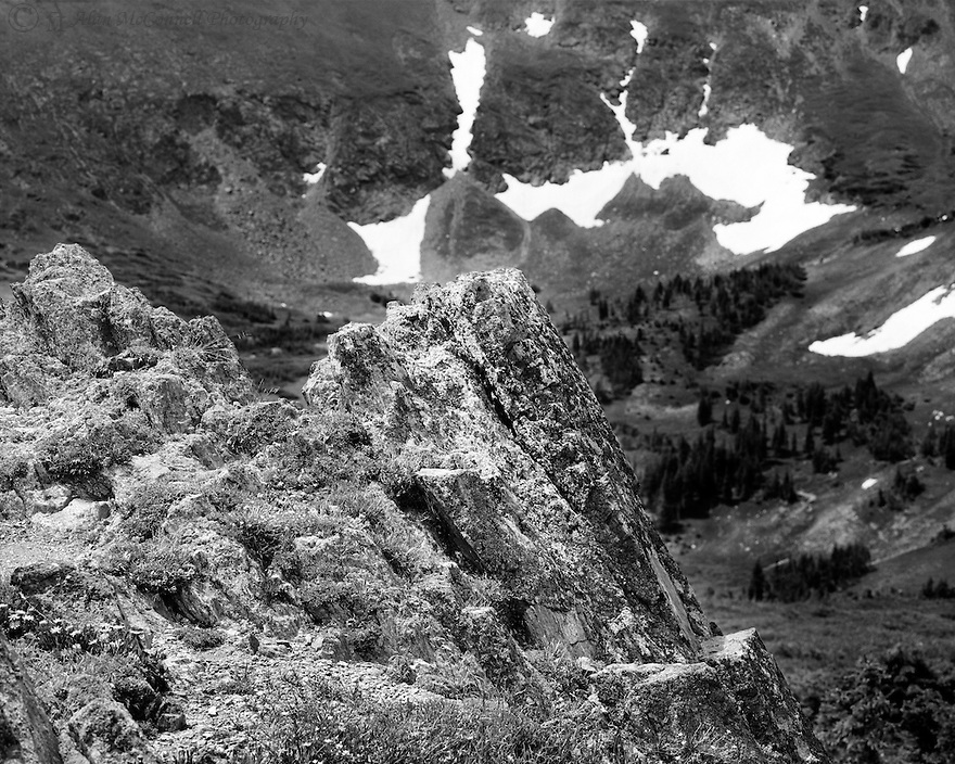 """""""Tundra Rock""""<br /> Old Fall River Road, Rocky Mountain National Park<br /> <br /> Near the top of the Old Fall River Road, an interesting rock protrudes from the ground in the tundra ecosystem."""