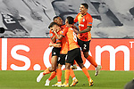 FC Shakhtar Donetsk's Tete, Manor Solomon, Marcos Antonio and Dodo celebrate goal during UEFA Champions League match. October 20,2020.(ALTERPHOTOS/Acero)