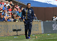 27th May 2018, Wembley Stadium, London, England;  EFL League 1 football, playoff final, Rotherham United versus Shrewsbury Town;  Shrewsbury Town manager Paul Hurst looks on from the touchline