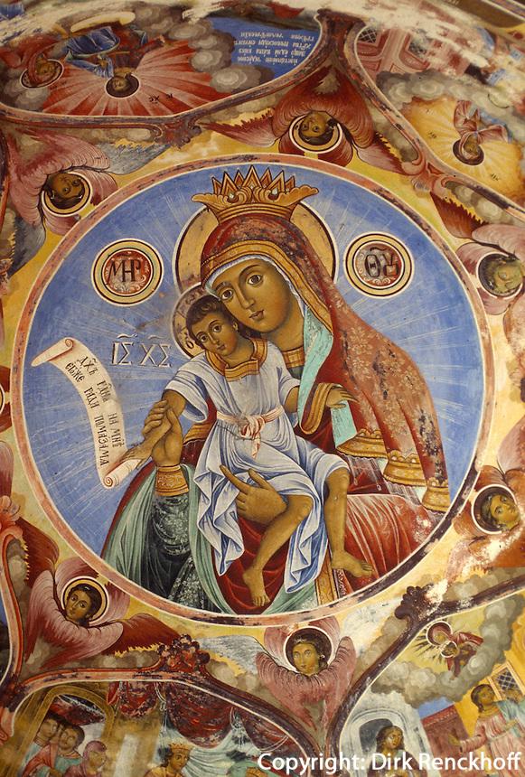 Bulgarien, Fresken im Rilakloster, Unesco-Weltkulturerbe