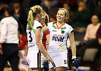 Friderike Schlenker, Viktoria Huse    celebration   goal<br /> / Sport / Hockey Hnhockey / World Championships Weltmeisterschaft Damen /  2017/2018 / 07.02.2018 / GER BRGermany vs. Russland  *** Local Caption *** © pixathlon<br /> Contact: +49-40-22 63 02 60 , info@pixathlon.de