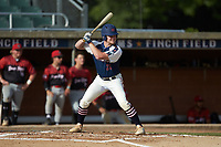 Hogan Windish (21) (UNCG) of the High Point-Thomasville HiToms at bat against the Deep River Muddogs at Finch Field on June 27, 2020 in Thomasville, NC.  The HiToms defeated the Muddogs 11-2. (Brian Westerholt/Four Seam Images)