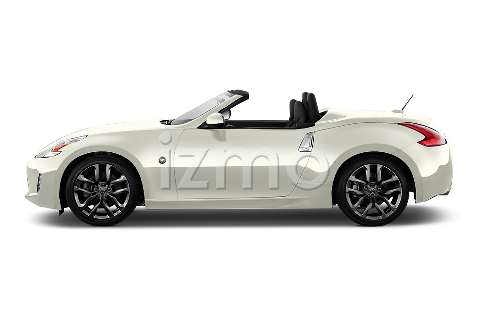 Car driver side profile view of a 2019 Nissan 370Z  Touring  2 Door Convertible